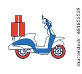 delivering motorcycle business... | Shutterstock .eps vector #681852529