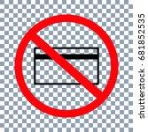 no card sign on transparent... | Shutterstock .eps vector #681852535