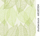 seamless background with leaves | Shutterstock .eps vector #68185504