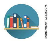 book shelf icon vector flat... | Shutterstock .eps vector #681859975
