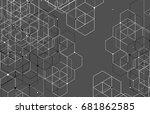 vector abstract boxes... | Shutterstock .eps vector #681862585