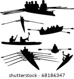 rowing collection   vector | Shutterstock .eps vector #68186347