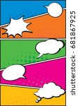 vector of a typical comic book... | Shutterstock .eps vector #681867925
