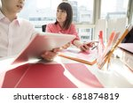 a smart tablet is necessary for ...   Shutterstock . vector #681874819