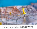 travel destination pin points...   Shutterstock . vector #681877321