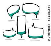 doodle speech bubble  | Shutterstock .eps vector #681881569