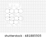 polygon with gray dot pattern... | Shutterstock .eps vector #681885505
