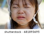 crying japanese girl  2 years... | Shutterstock . vector #681893695