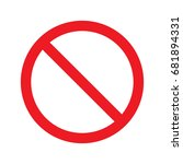 no sign icon vector isolated | Shutterstock .eps vector #681894331