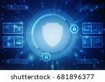 2d illustration security...   Shutterstock . vector #681896377