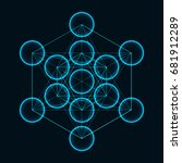 flower of life. sacred geometry.... | Shutterstock .eps vector #681912289