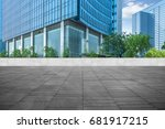 modern building and empty... | Shutterstock . vector #681917215