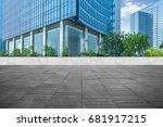 modern building and empty... | Shutterstock . vector #681917215
