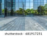 modern building and empty... | Shutterstock . vector #681917251