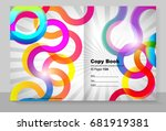 cover copybook with abstract... | Shutterstock .eps vector #681919381