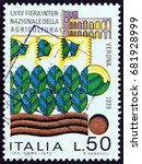 italy   circa 1973  a stamp... | Shutterstock . vector #681928999