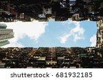 montane mansion in hongkong... | Shutterstock . vector #681932185