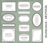 Stock vector vector set vintage labels elements and page decoration 68193436