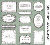 vector set  vintage labels... | Shutterstock .eps vector #68193436