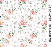 watercolor seamless pattern... | Shutterstock . vector #681940339