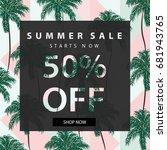 summer sale banner.summer sale... | Shutterstock .eps vector #681943765