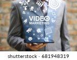 video marketing online business ... | Shutterstock . vector #681948319