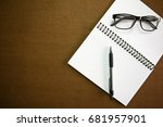 business accessories   notebook ... | Shutterstock . vector #681957901