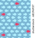 seamless fish pattern  fully... | Shutterstock .eps vector #68196937