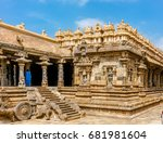 the sacred building carved from ...   Shutterstock . vector #681981604