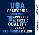 graphic design california for... | Shutterstock .eps vector #681986881