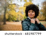 candid shot of a young woman... | Shutterstock . vector #681987799
