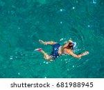 snorkeling  | Shutterstock . vector #681988945