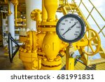 pressure gauge for monitoring... | Shutterstock . vector #681991831