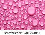 water drops on a pink background | Shutterstock . vector #681993841