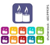 aromatic candles icons set... | Shutterstock .eps vector #681999391