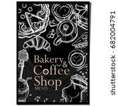 menu cafe coffee bakery...   Shutterstock .eps vector #682004791