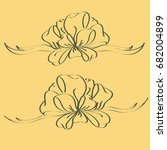 set hand drawn bows isolated on ...
