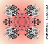 christmas stylized snowflakes... | Shutterstock . vector #682007365