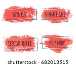 marketing banners vector... | Shutterstock .eps vector #682013515