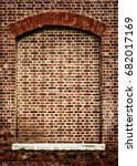 old bricked up window with arch.... | Shutterstock . vector #682017169