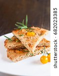 rosemary focaccia bread with...