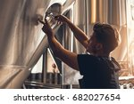 brewer closing the hatch of... | Shutterstock . vector #682027654