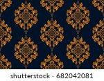 seamless ornament on background.... | Shutterstock .eps vector #682042081