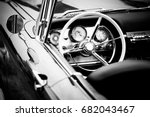 old cabriolet car close up - stock photo