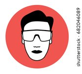 protective goggles wearing icon ... | Shutterstock .eps vector #682046089