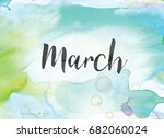 the word march concept and...   Shutterstock . vector #682060024