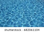 swimming pool water. blue... | Shutterstock . vector #682061104