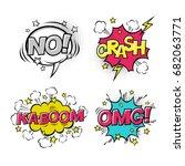 Comic Speech Bubbles Set With...