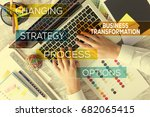 business transformation concept | Shutterstock . vector #682065415