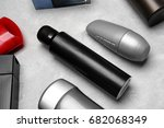 various deodorants for men on... | Shutterstock . vector #682068349